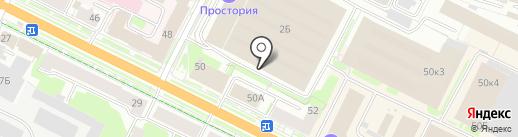 Расписной малюр на карте Пскова