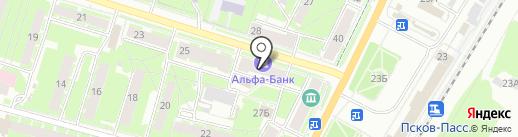 Балтийский Банк на карте Пскова
