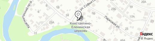 Церковь Константина и Елены на карте Пскова