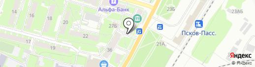 Продукты в двух шагах на карте Пскова
