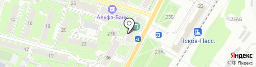 ИСМБ на карте Пскова