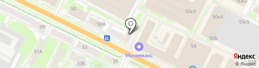 АК Барс банк, ПАО на карте Пскова