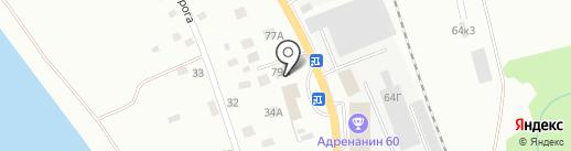 Домострой на карте Пскова