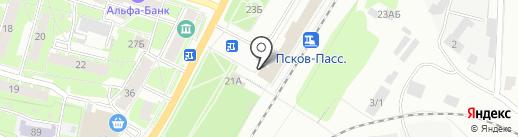 Псковский линейный отдел МВД России на транспорте на карте Пскова