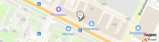 Оптима-Мебель на карте Пскова