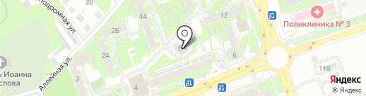 Строй-Кром на карте Пскова