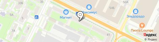 Гармония Окна на карте Пскова