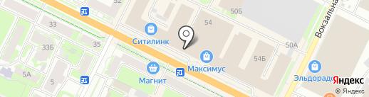 Милена на карте Пскова
