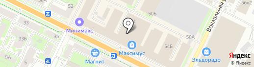 Почта России на карте Пскова
