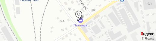 Пятница на карте Пскова