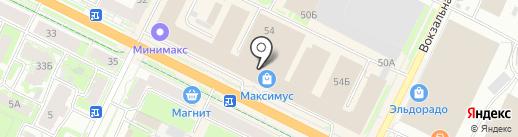 Ключник на карте Пскова