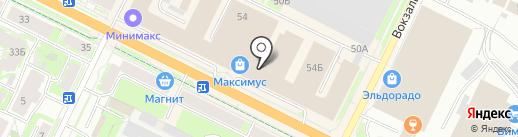 Торсида на карте Пскова