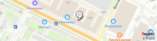 Лилиан на карте Пскова
