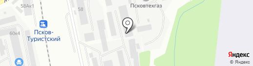 В городе N на карте Пскова