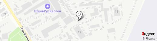 Травол, ЗАО на карте Пскова