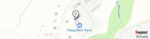 Норд-Вест Авто на карте Пскова
