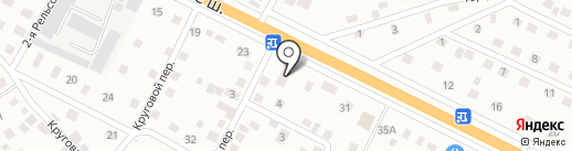 Гаура на карте Пскова