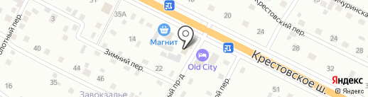 Талисман на карте Пскова
