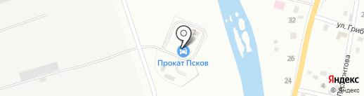 Прокат Псков на карте Пскова