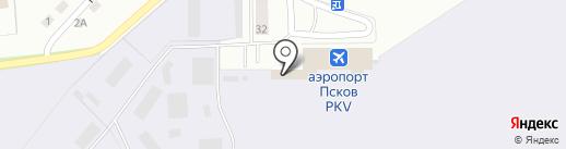 Псковавиа на карте Пскова