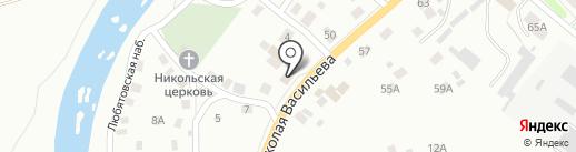 Почтовое отделение №14 на карте Пскова
