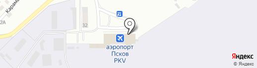 Расстегай на карте Пскова
