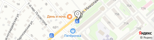 Сластена на карте Пскова