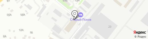 Радиал на карте Пскова