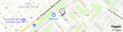 Магазин семян и товаров для животных на карте Пскова