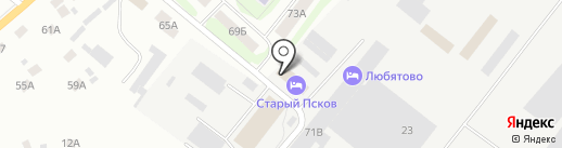 Берлога на карте Пскова