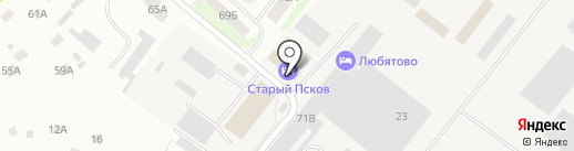 Старый Псков на карте Пскова