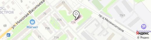 Бригантина на карте Пскова