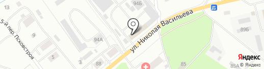 Портер-псков на карте Пскова