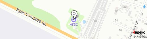 АГЗС Пропан на карте Пскова