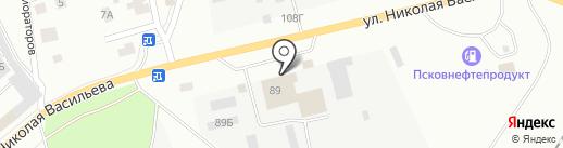 Автотрофи на карте Пскова