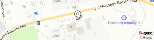 Драйв на карте Пскова