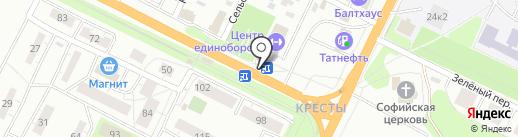 Магазин цветов на Крестовском шоссе на карте Пскова