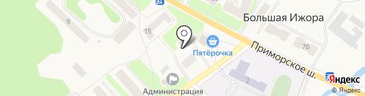 Почтовое отделение №531 на карте Большой Ижоры