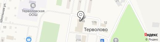 Терволовская сельская библиотека на карте Терволово