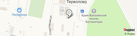 Северо-Западный банк Сбербанка России на карте Терволово
