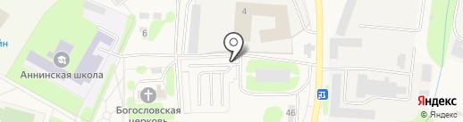 Автостоянка на Садовой (Ломоносовский район) на карте Аннино