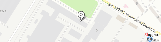 TDS на карте Гатчины