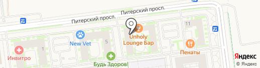 Seven lounge bar на карте Новоселья