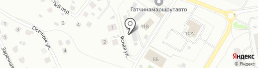 Автомойка на карте Гатчины