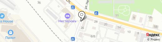 Божок-1 на карте Гатчины
