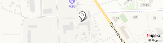 Автомойка на ул. Виллози на карте Виллози