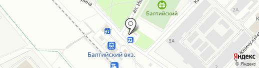 Магазин разливного пива на ул. Григорина на карте Гатчины