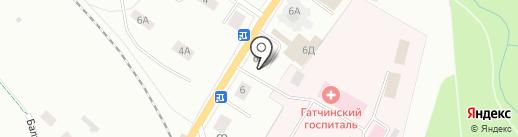 Круглая рига на карте Гатчины