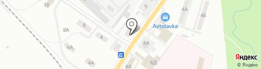 Алва на карте Гатчины