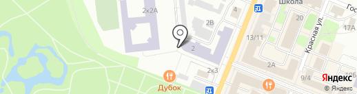 Гатчинская средняя общеобразовательная школа №11 на карте Гатчины